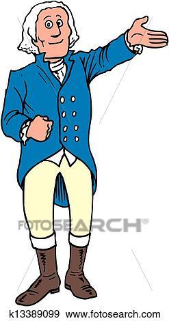 clip art of george washington k13389099 search clipart rh fotosearch com george washington carver clipart george washington head clipart