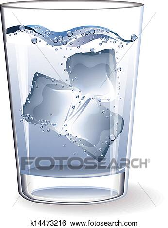 Glass of Ice Clip Art