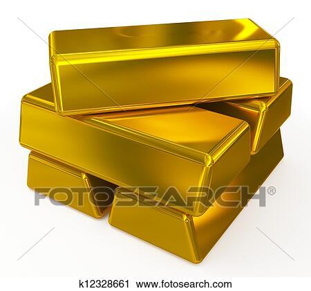 Clipart Of Gold Bars K12328661