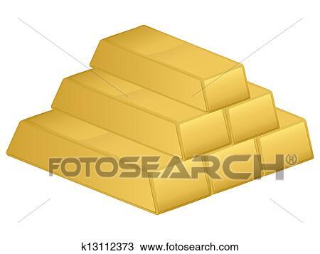 Clipart Of Gold Bars K13112373
