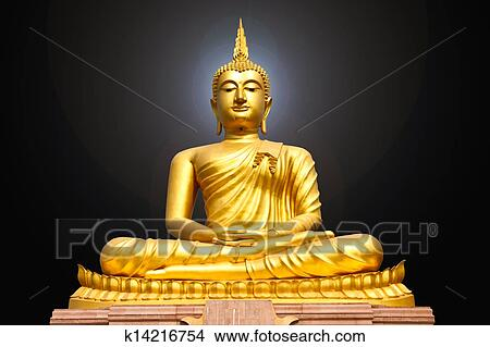 drawings of gold buddha statue k14216754 search clip art