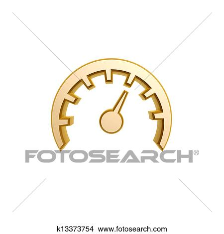 Drawings of golden speed meter symbol k13373754 - Search Clip Art ...