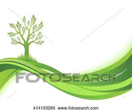 Green Nature Background Eco Concept Illustration Clipart