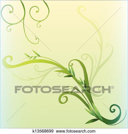 clip art green vine leaf border design fotosearch search clipart illustration posters