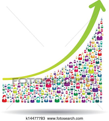 Clipart Of Growth Chart K14477783 Search Clip Art Illustration