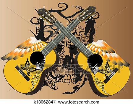 Guitare Conception Banque D Illustrations