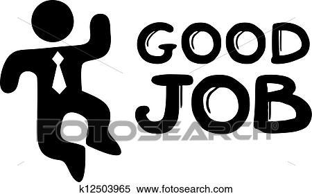Clipart Gute Arbeit K12503965 Suche Clip Art Illustration