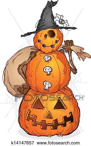 Halloween Pumpkin Cartoon Images.Halloween Pumpkin Scarecrow Cartoon Clip Art
