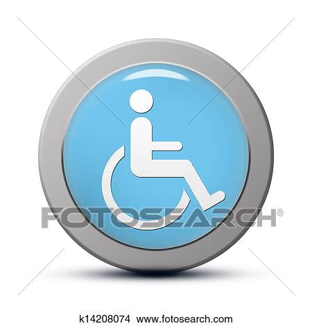 Drawings Of Handicapped Icon K14208074 Search Clip Art