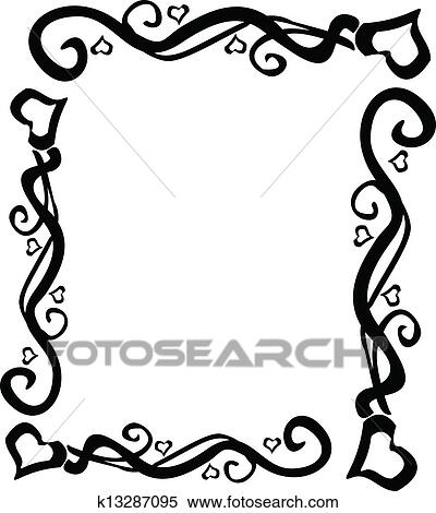 clipart of heart swirl border vector k13287095 search clip art rh fotosearch com vector border templates vector border design