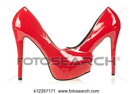 1875e983f3 High heels shoes with inner platform Stock Image | k12357171 ...