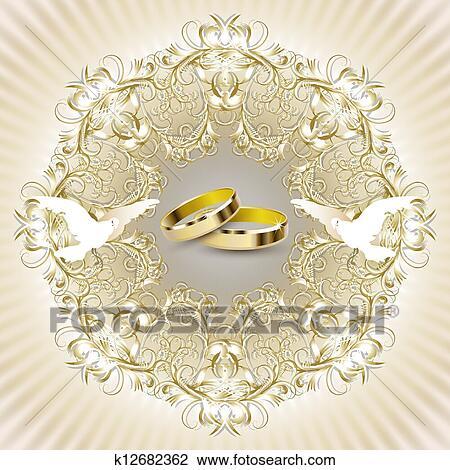 Clipart Hochzeitskarten Karte K12682362 Suche Clip Art
