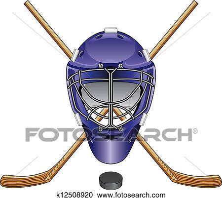 Clipart hockey glace masque gardien but b tons lutin - Dessin gardien de but ...