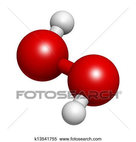Stock Illustration Of Hydrogen Peroxide H2o2 Molecule K13541755