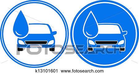 Klipart Iki Ince Boya Arabalar Ile Su Damlası K13101601
