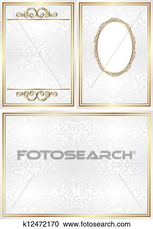 Clipart Of Invitation Template K12472170 Search Clip Art