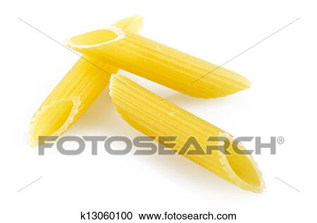 stock photography of italian pasta maccaroni close up on the white