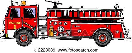 Klipart Itfaiye Arabasi Merdiven K12223035 Clipart Duvar