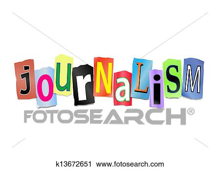clipart of journalism concept k13672651 search clip art rh fotosearch com campus journalism clipart