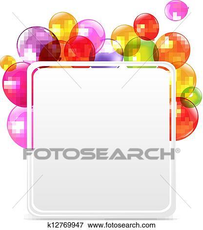 Joyeux Anniversaire Carte à Couleur Ballons Clipart