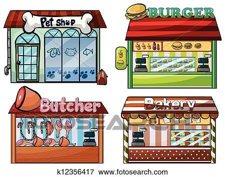 Clipart Petshop Hamburger Stand Boucherie Et