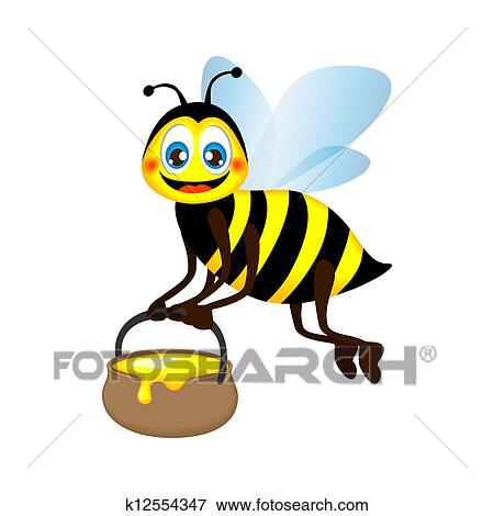 Préférence Clipart - rigolote, abeille, porter, a, pot miel k12554347  NJ08
