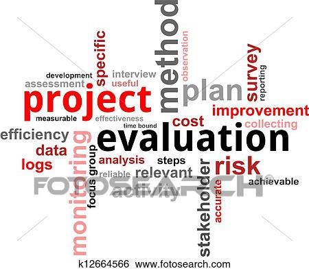 Stock Illustration Of Word Cloud  Project Evaluation K