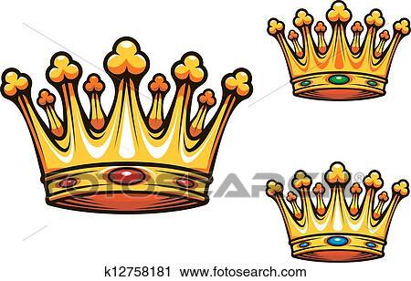 Clipart royal roi couronne k12758181 recherchez des - Clipart couronne ...