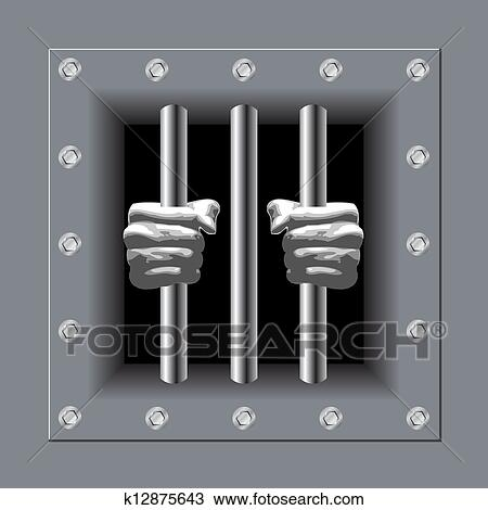 Clip Art of Prison bars k17030736 - Search Clipart, Illustration ...