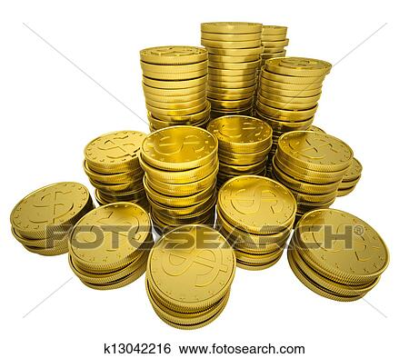 Stock Illustration of Pile gold coins k13042216 - Search ...
