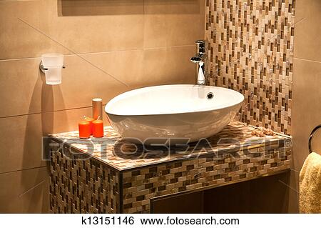 luxury kitchen sink stock images of beautiful modern bathroom in luxury new 3920