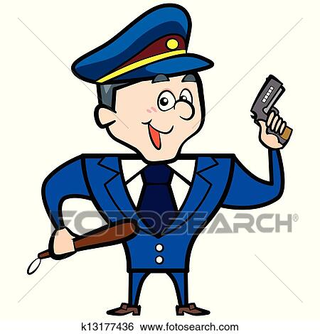 Clipart dessin anim gendarme homme fusil - Gendarme dessin ...