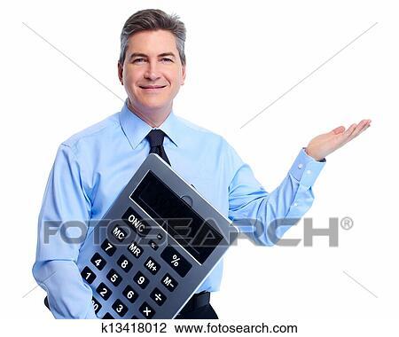 banque de photo comptable homme affaires 224 calculator k13418012 recherchez des images