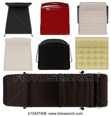 Dining Chair Top View stock illustration of set of chairs top view k13437408 - search