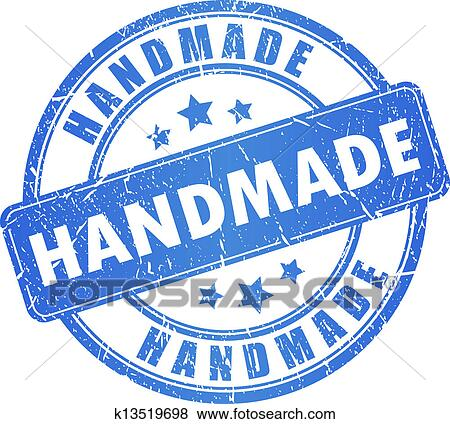 Clip Art of Vector handmade stamp k13519698 - Search ...