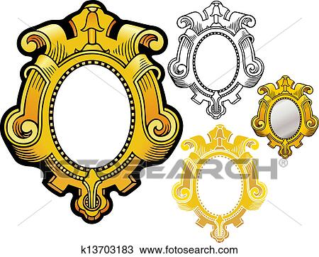Mirror Frame Drawings Clipart Mirror Frame