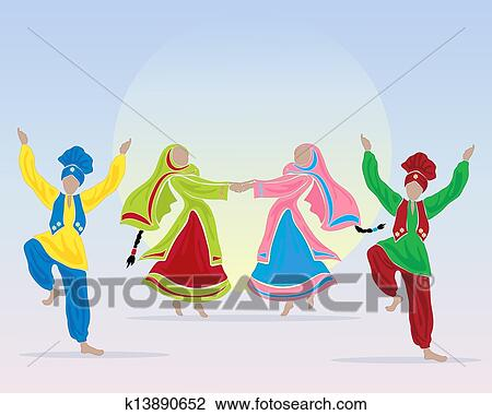 Folk dance Clipart Illustrations. 588 folk dance clip art vector ...