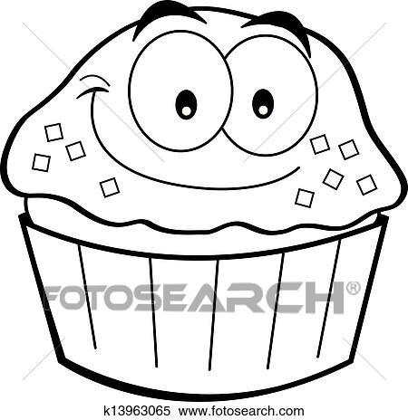 clipart - dessin animé, petit gâteau k13963065 - recherchez des