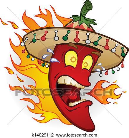 Clipart piment chaud poivre dessin anim caract re - Dessin piment ...