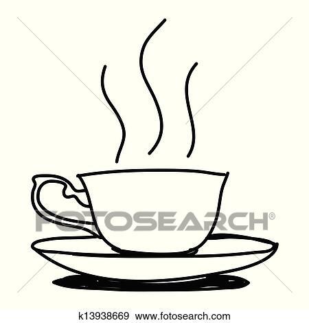 Clip Art Kaffeetasse Hand Gezeichnet K13938669 Suche