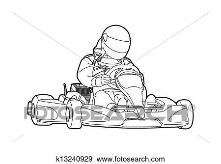 Clipart Karting K13240929 Recherchez Des Cliparts Des