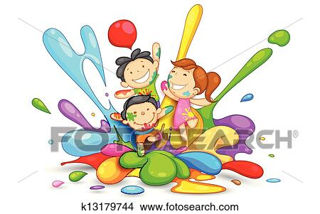 clipart of kids playing holi k13179744 search clip art rh fotosearch com fotosearch.de/clipart/hochzeit.html seite nr. 1 (*=s) fotosearch clip art the five senses