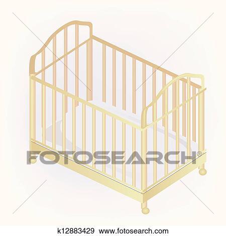 Clip Art Kinderbett Abbildung K12883429 Suche Clipart Poster