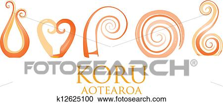 94810707ae92d A set of orange glass Maori Koru curl ornaments.