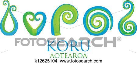 0c25654ff09a0 Koru Clipart   k12625104   Fotosearch