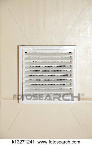 Stock Fotografie Luftung Weiss Badezimmer Beluftung Gitter