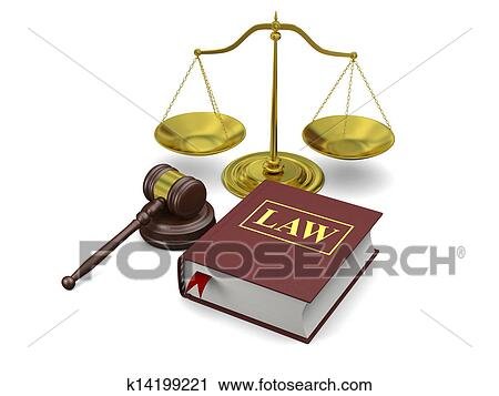 Clipart Of Law Symbols K14199221 Search Clip Art Illustration