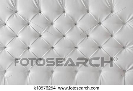 Leather Upholstery White Sofa Texture Pattern Background Picture