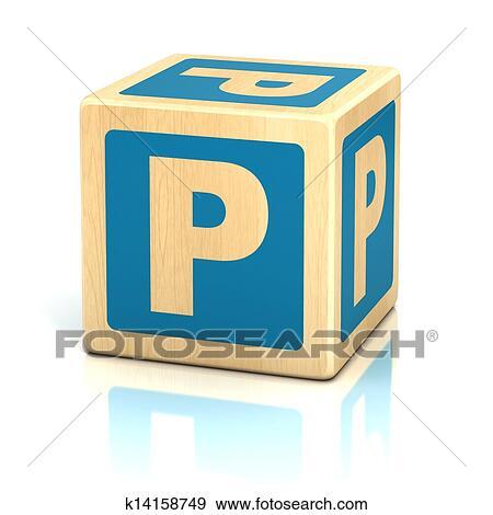 Banque de Photographies - lettre p, alphabet, cubes, police ...