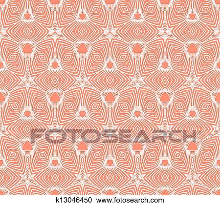 Linear Geometric Pattern 50s Wallpaper Design Clipart